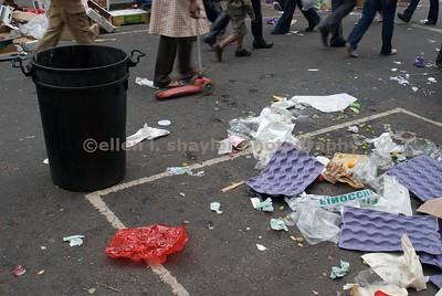 aftermath of sunday market, notting hill, london.