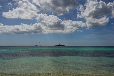 Formentera. Two yachts.