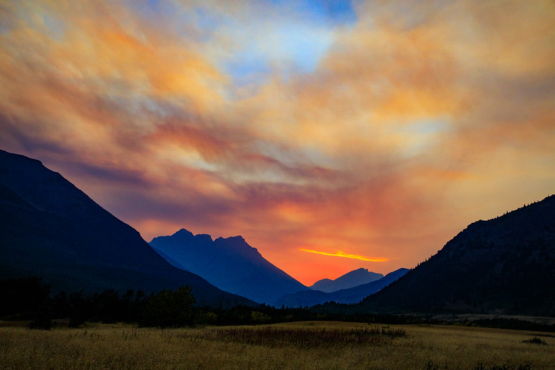 M - Sunset in Glacier NP