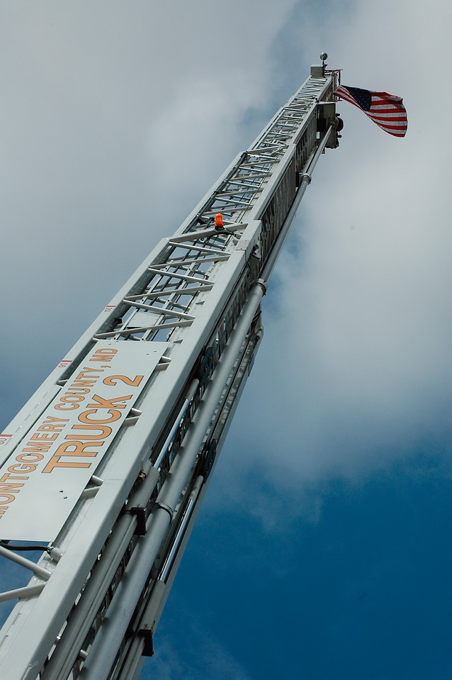 I - Ladder with Old Glory