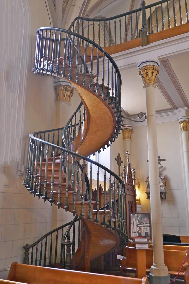 W - Mysterious staircase, Loretta Chapel, Santa Fe