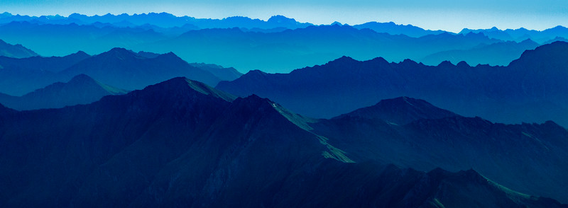 M - Blue layered mountains NZ