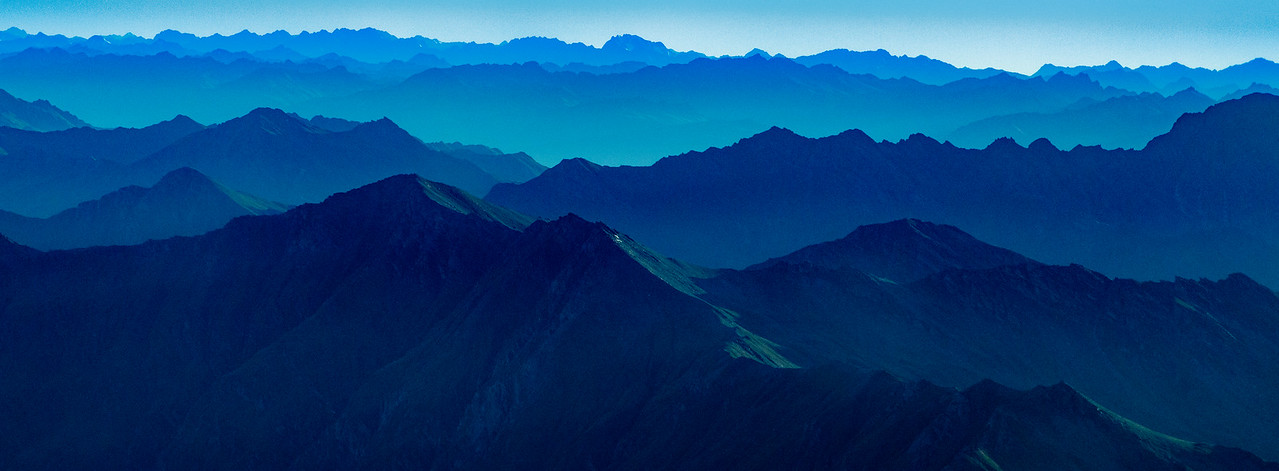 M - Blue layered mountains NZ