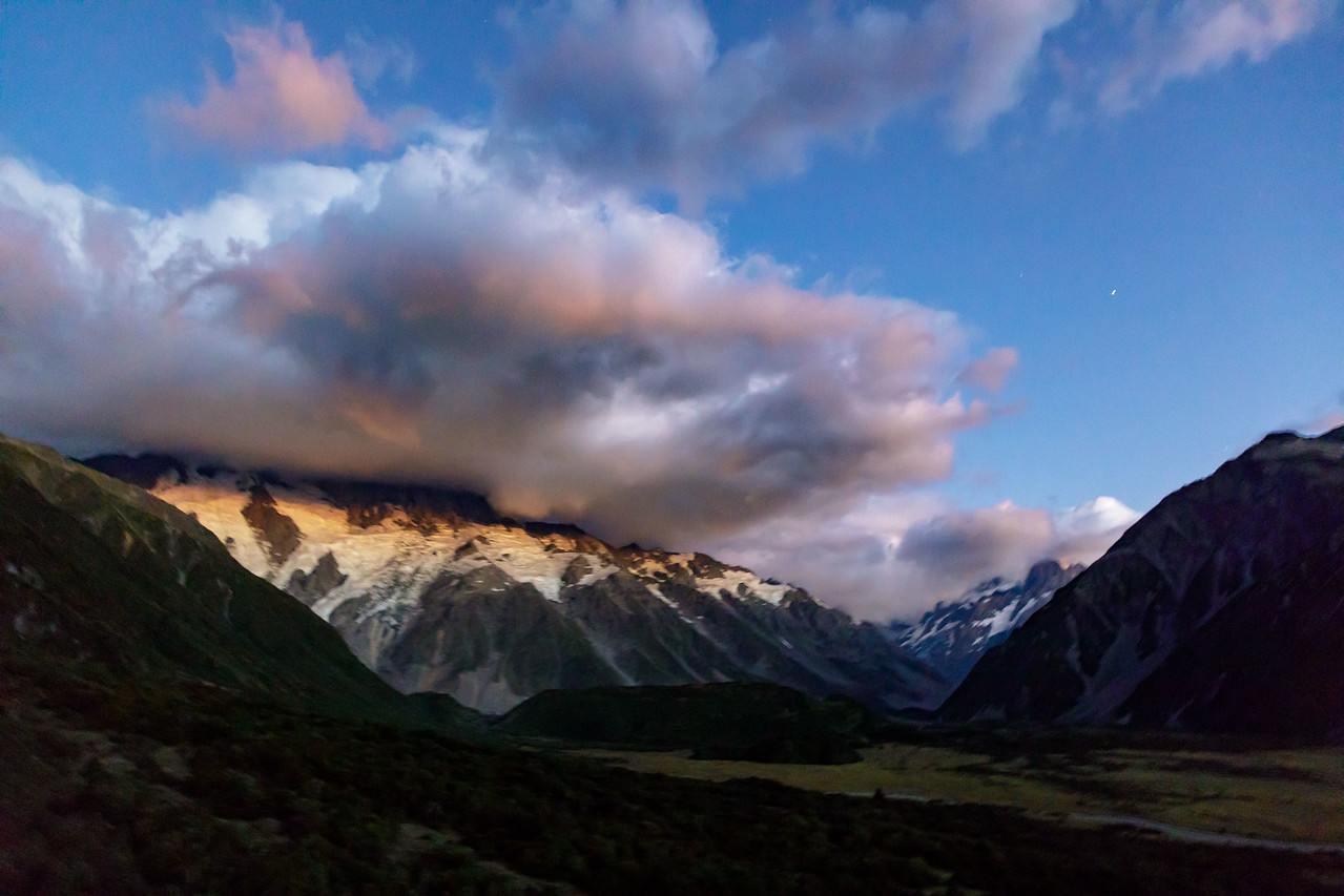 M - Early morning before sunrise near Mt. Cook