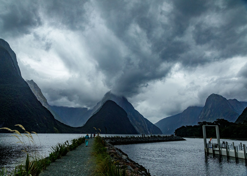 M - Gloomy day at sunrise at Milford Sound NZ