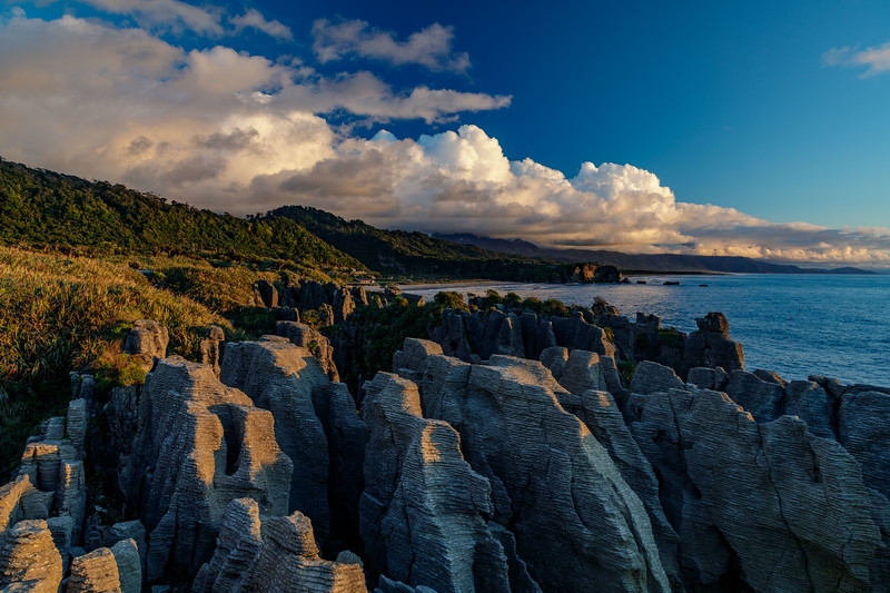 M - Sunset at Pancake Rocks, NZ