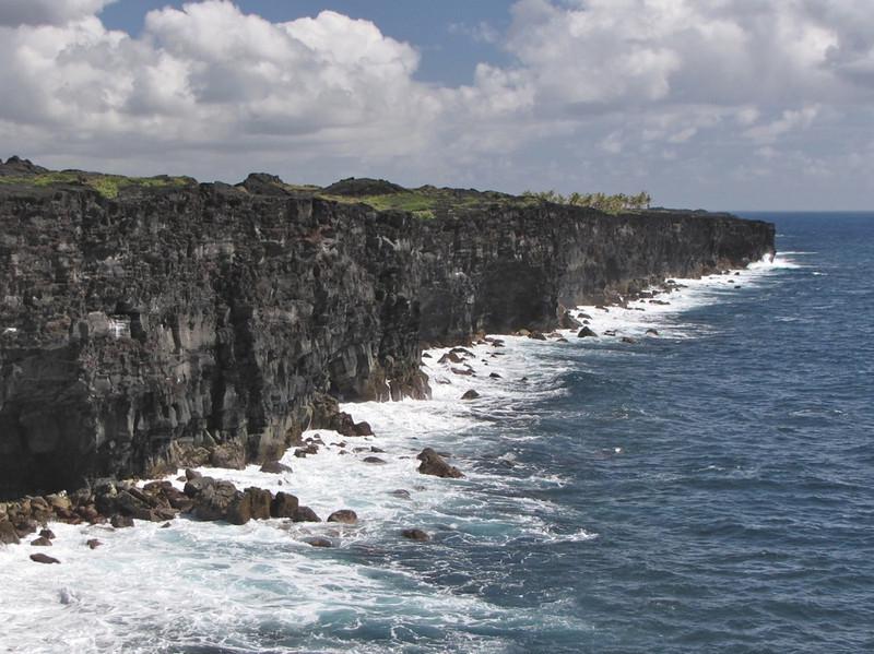 W - Lava cliffs on Big Island
