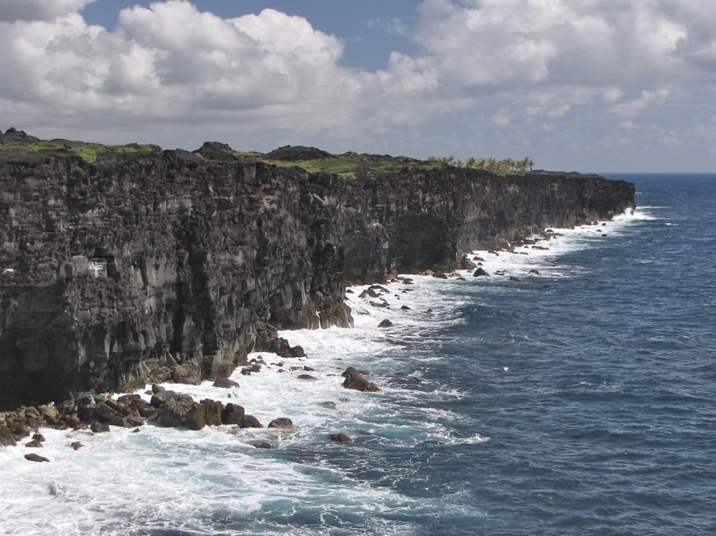 W - Lava cliffs on Big Island