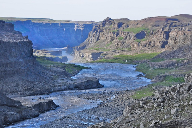W - 05 Iceland's Grand Canyon above_below Dettifoss falls