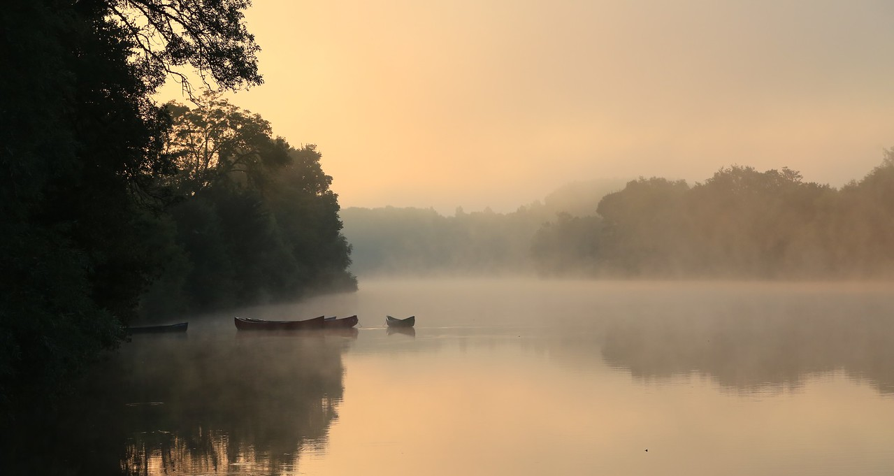M -Misty morning on the Cher