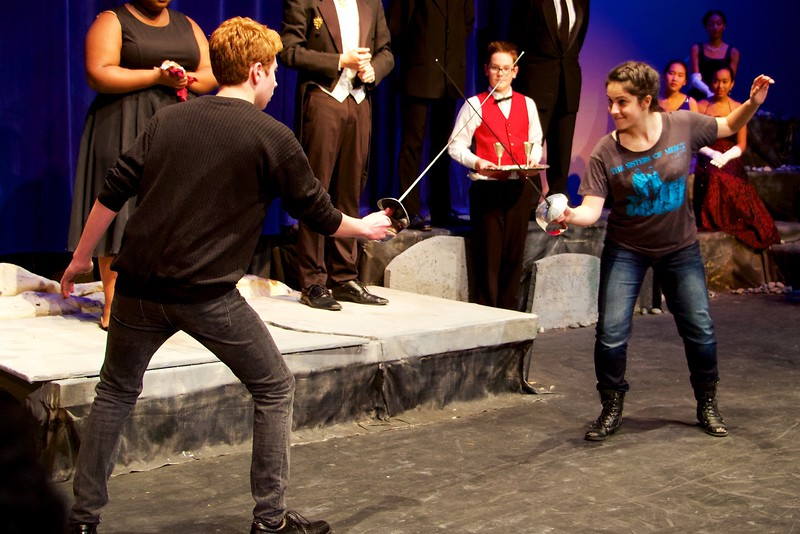 I - Laertes and Hamlet duel at Blair HS