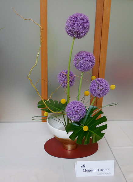 W - 4 Ikebana with Alliums at Chi Bot Gardens