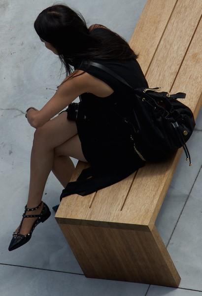 I - Whitney Museum visitor