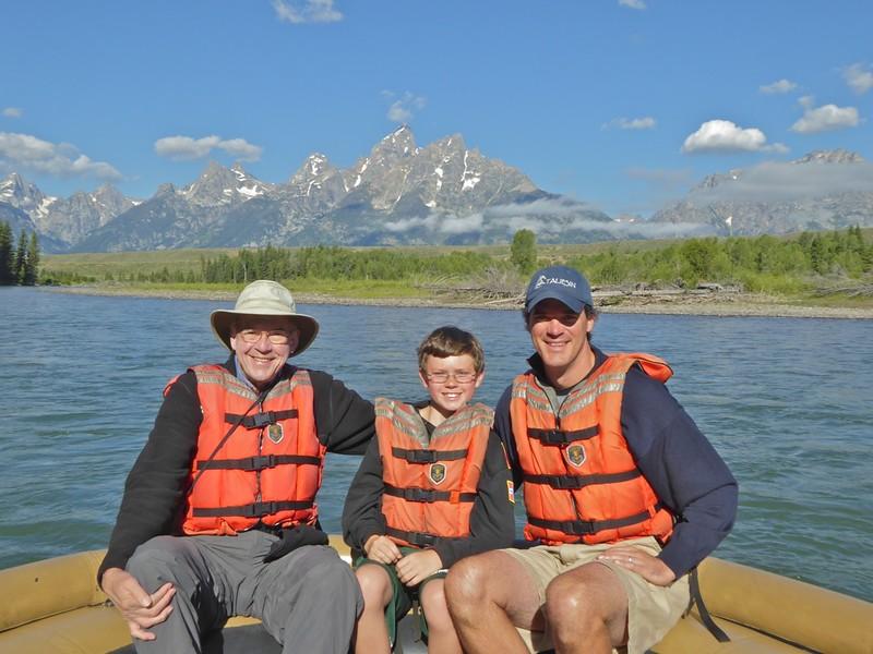 W - On personal raft trip