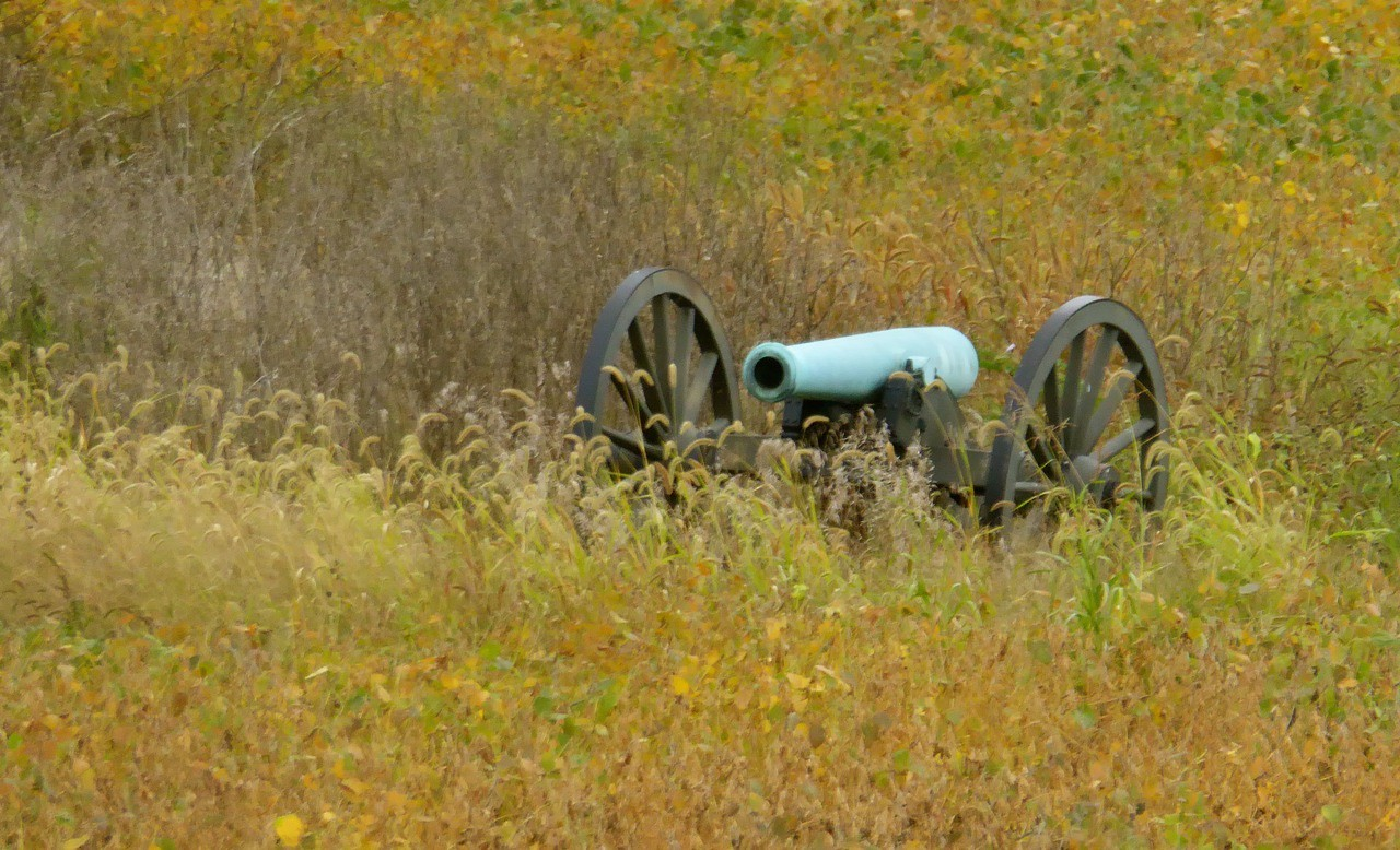 W - Confederate canon at Manassas-2