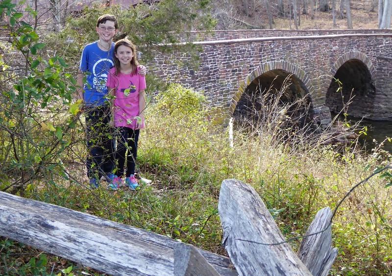 W - Ryan & Campbell at Stone Bridge-2, Manassas Battlefield