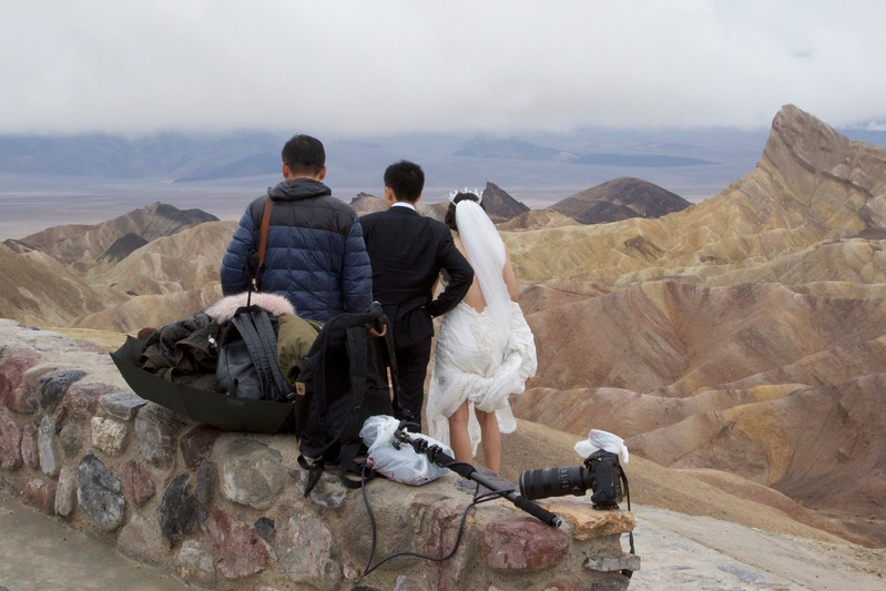 M - DVNP Zabriskie Point Wedding Photo