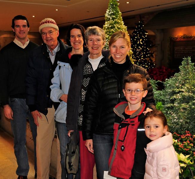 W - Marton family at Chicago Botanic Gardens Christmas Exhibit