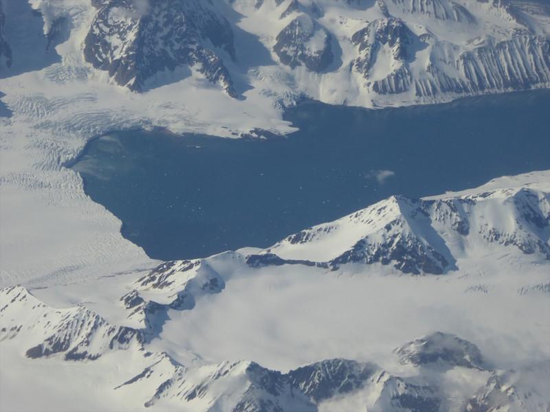 W - Flying over Svalbard