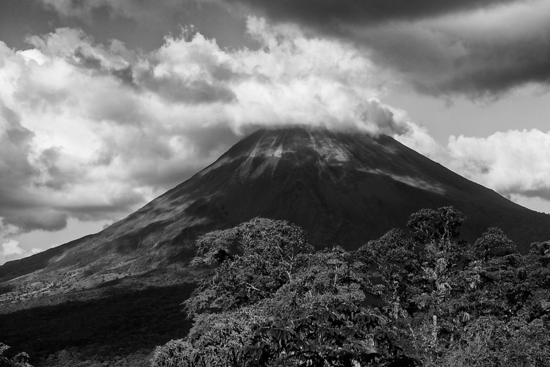 I - Arenal Volcano-B&W