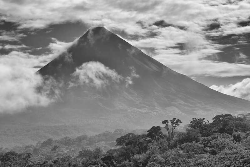 I - Arenal Volcano II-B&W