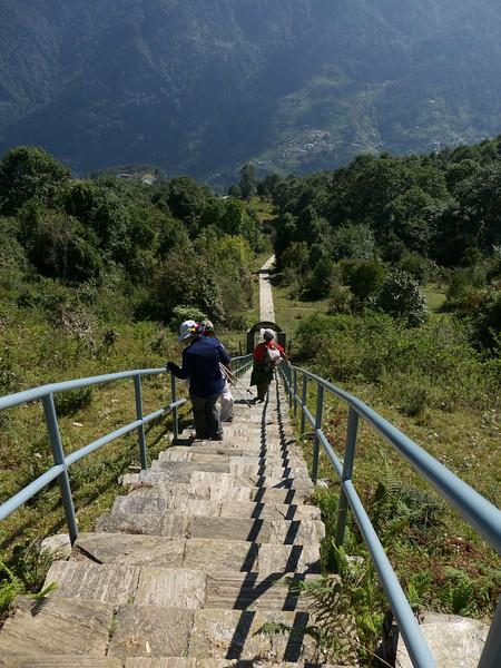 J - Steps down to Ghandruk