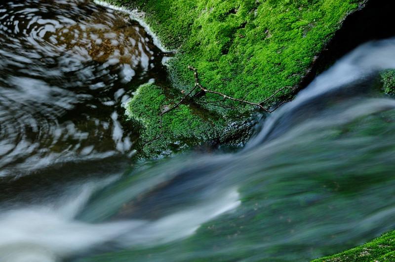 Elakala Falls downstream