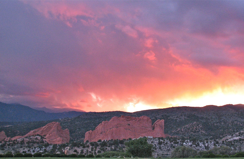 Rockies sunset, Colorado Springs, CO
