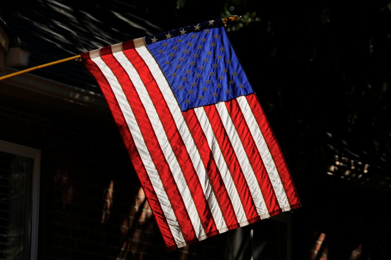 Backlit Flag