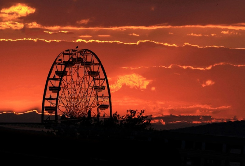 B - Ferris Wheel sunset