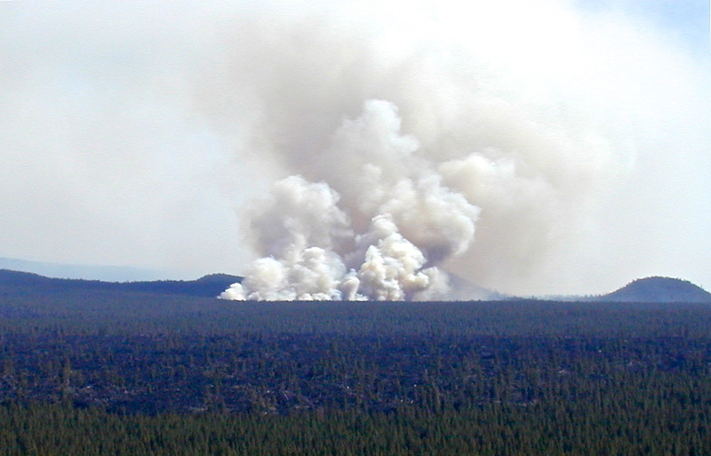 B - Forest fire near Bend