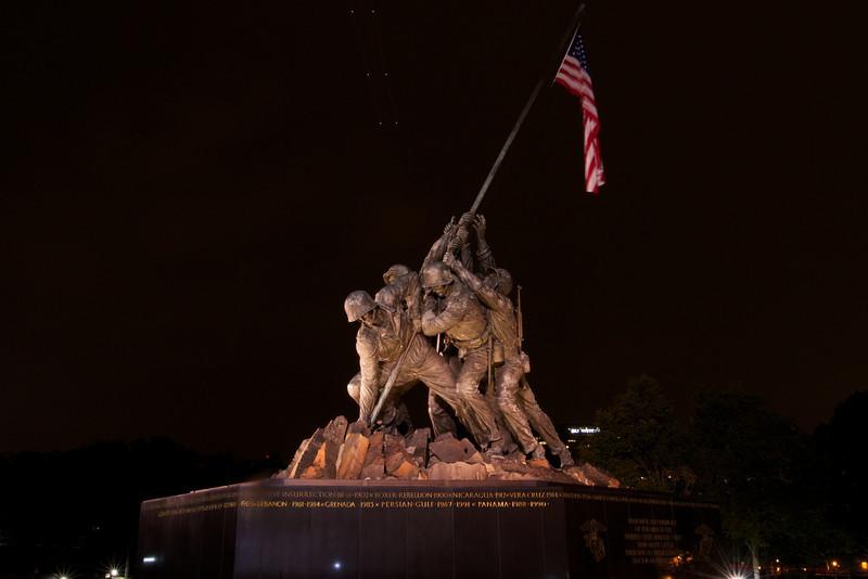 M - Iwo Jima at night