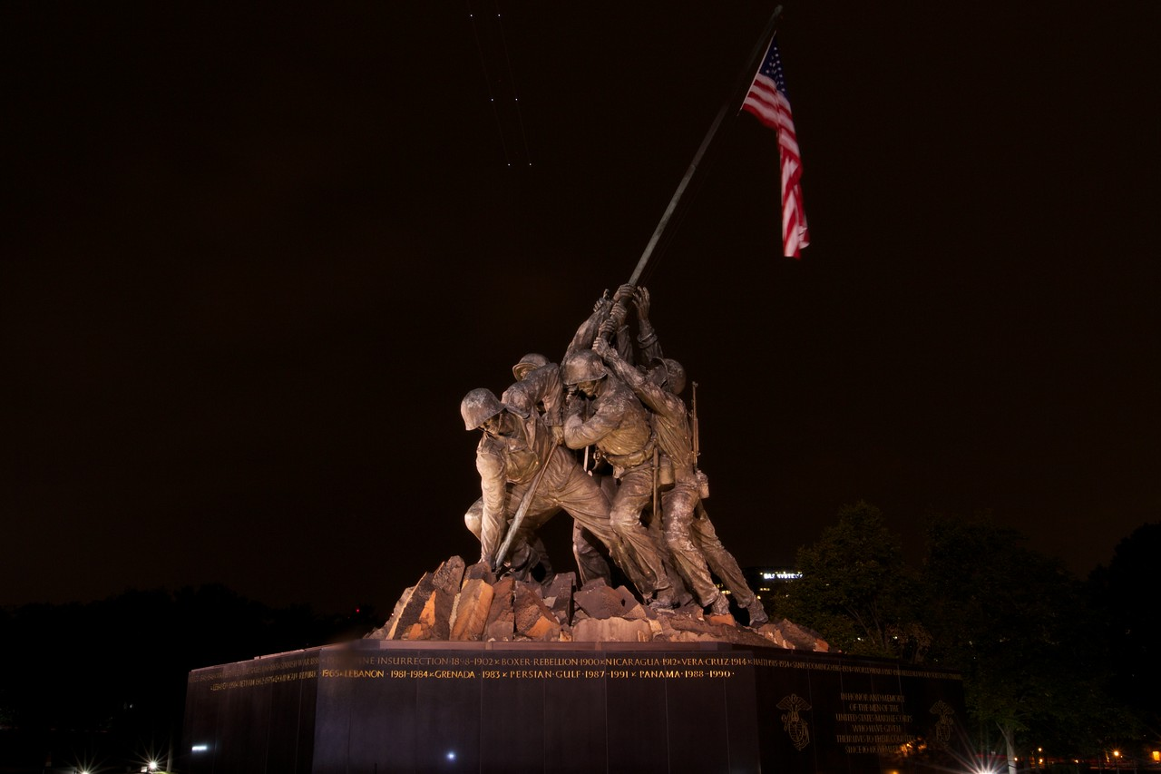 M - Iwo Jima at night