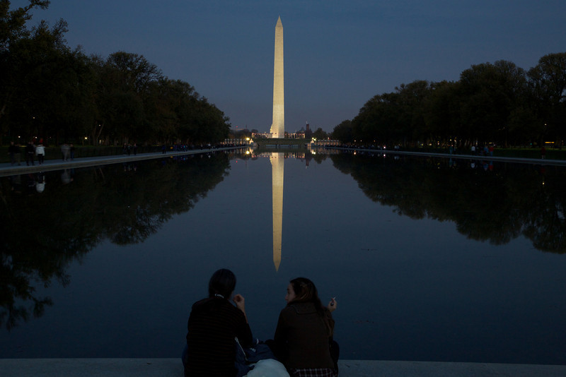 M - Monument at twilight