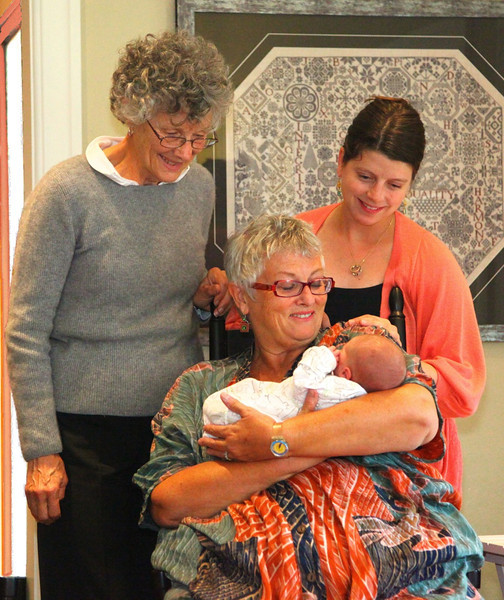 B - Two grandmas, a mama and a baby