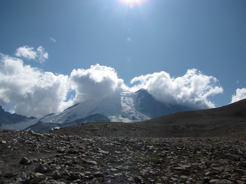 Coming Down from Third Burroughs, Mt  Rainier (1)