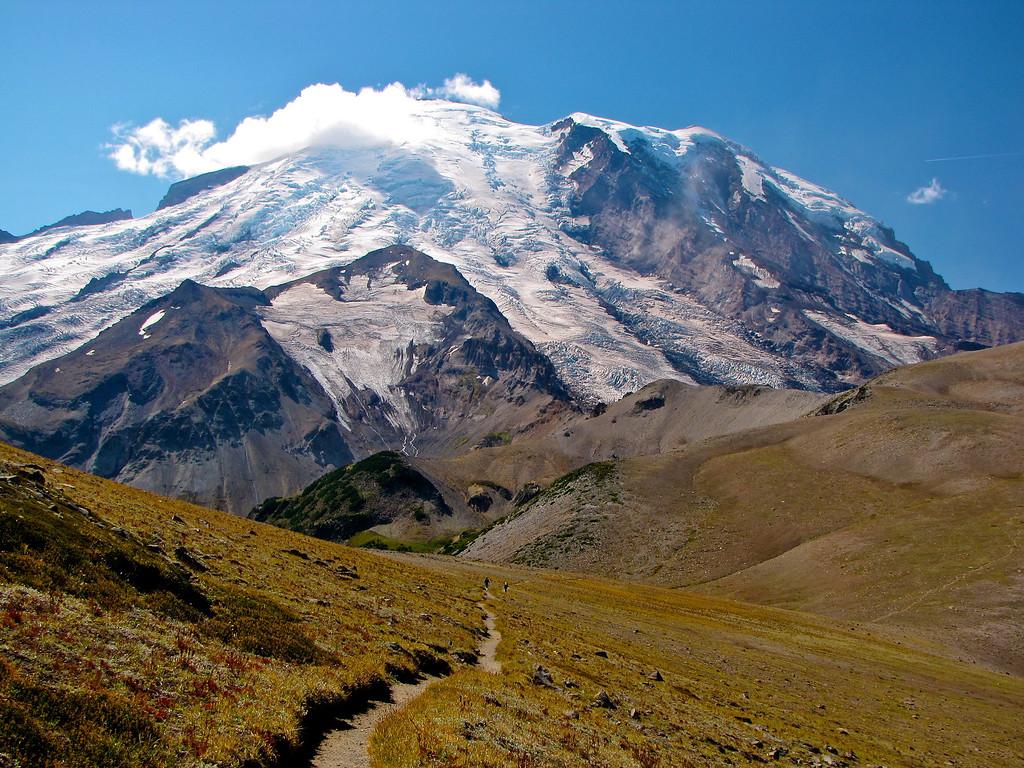 Trail to Third Burroughs, Mt  Rainier