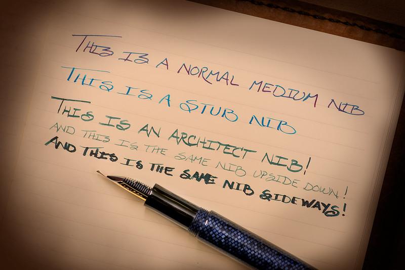 Nib Writing Samples
