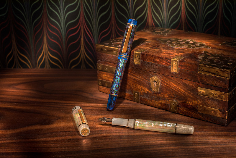 Atelier Lusso Abalone and Mother-of-Pearl Fountain Pens