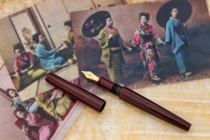 Nakaya Aka-Tamenuri Urushi Decapod Fountain Pen