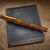 Marbled Amber Cellulose Fountain Pen