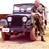 Me and the AFTN (Armed Forces Thailand Network) jeep at NKP RTAFB, 1973.