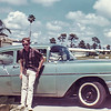 Me and my second car, a '56 Chevy. Taken in Clearwater, Fla. in 1963 or '64.
