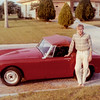 Me and my 1965 Austin-Healy Sprite. Had it in 1965 thru '68. My wife Elda and I drove this car when we were first married.