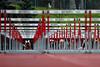 Through the Hurdles – 15 April 2006 – Michael Tucker at the start of the men's 110 hurdles at the Sam Adams Classic track meet on April 15th, 2006.