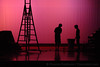Tech Silhouette – 26 April 2006 – Ben White and Matt Park set up for a tech performance in the on the main stage in the auditorium.
