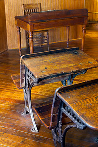 Wooden Antique School Desks