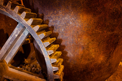Mining Gear and Bucket Closeup