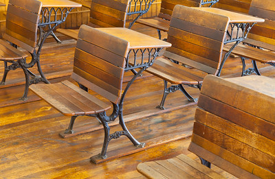 Old School Desks 4th Ward School