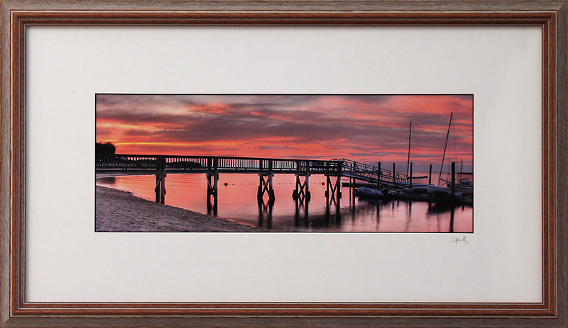 Sesuit Harbor <br /> 12 x 22 inch frame<br /> 6 x 16 photo size. Tru Vue conservation grade glass with 99% UV protection.